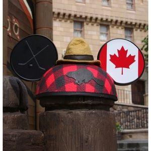 RARE Disney World Mickey Canada Ears Hat